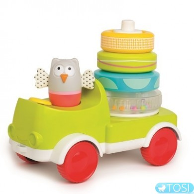 Машинка с пирамидкой Taf Toys Совушка малышка