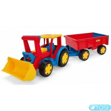 """Трактор Wader """"Гигант"""" с прицепом и ковшом"""
