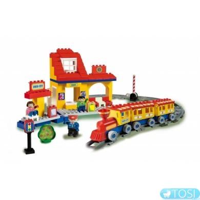 Конструктор железная дорога La Grande Ferrovia Unico Plus, 113 деталей