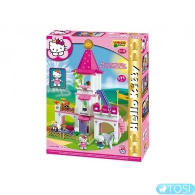 Конструктор Большой замок Hello Kitty Unico Plus 8676-00HK