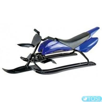 Санки-мотоцикл KIDIGO (Цвет зеленый и синий)