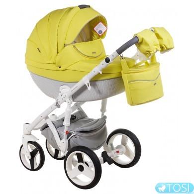 Универсальная коляска Adamex Monte Deluxe Carbon кожа