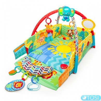 Развивающий коврик Bright Stars Sunny Safari Babys Play Place 52157