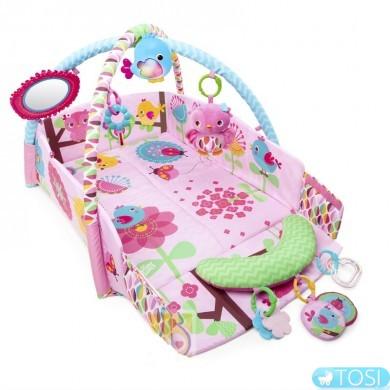 Развивающий коврик Bright Starts 52158 Розовая Сова