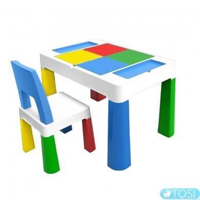 Игровой столик для Lego Poppet Color со стулом