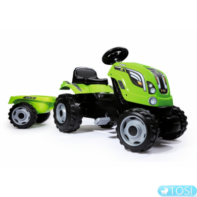 Трактор на педалях с прицепом Farmer XL Smoby 710111
