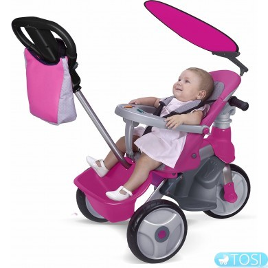 Детский велосипед 4в1 Feber Baby Trike Easy Evolution Pink