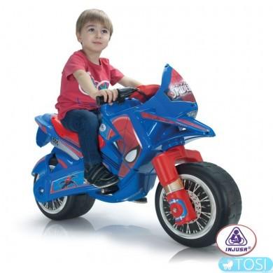 Электромобиль мотоцикл Spiderman Injusa 64760