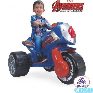 Электромобиль трехколесный Avengers Neox Injusa 72977
