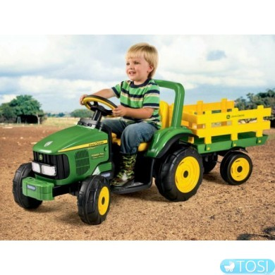 Электромобиль Трактор Peg Perego JOHN DEERE POWER PULL