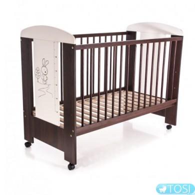 Детская кроватка Klups Заяц слоновая кость-коричневая
