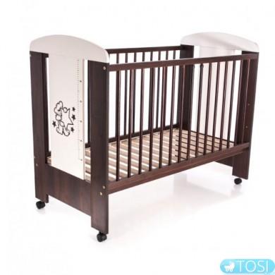 Детская кроватка с ростомером Klups Мишка