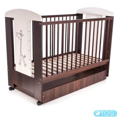 Детская кроватка с ящиком Klups Safari Zyrafka