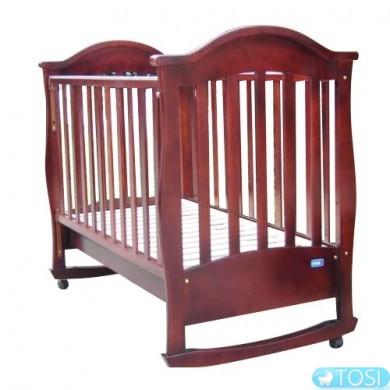 Детская кроватка Mioo BC-411R темная орех