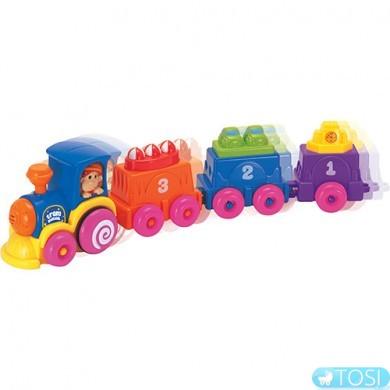 Музыкальный поезд с 3-мя вагончиками игровой набор KEENWAY
