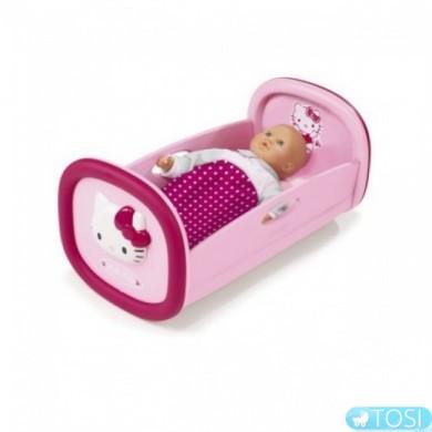 Кроватка для куклы Hello Kitty